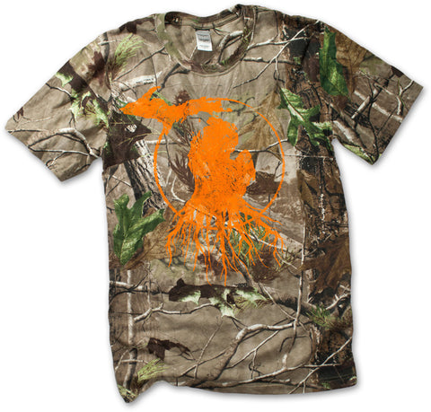 Unisex Michigan Roots Logo T-Shirt - RealTree™ Camo with Blaze Orange