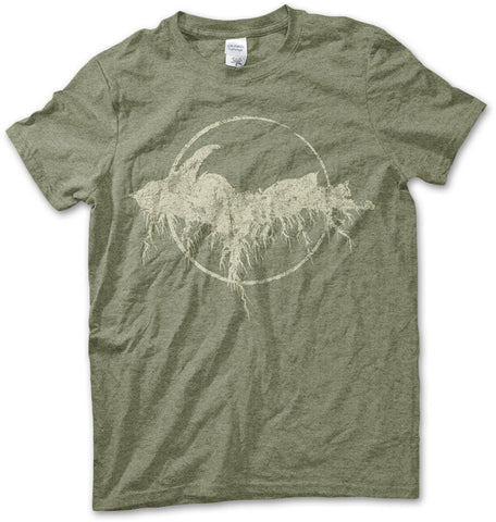 Unisex Yooper Roots Logo T-Shirt - Heather Military Green