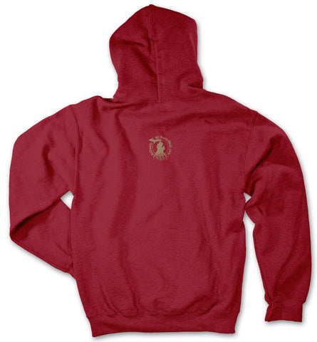 Michigan Roots Logo Pullover Hoodie - Antique Cherry Red