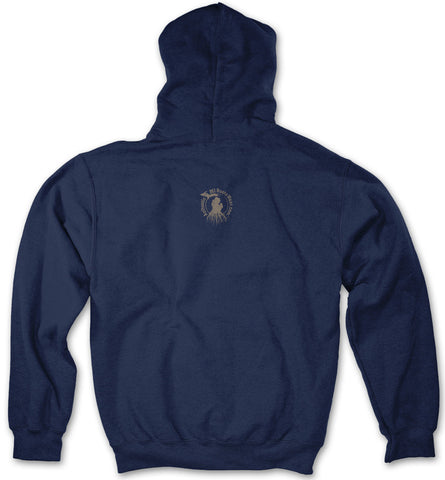 Michigan Roots Logo Pullover Hoodie - Navy Blue