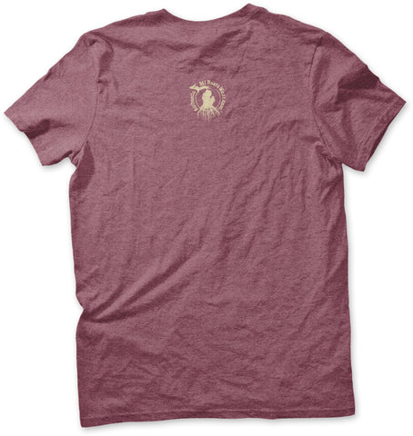 Unisex Michigan Roots Logo T-Shirt - Heather Maroon