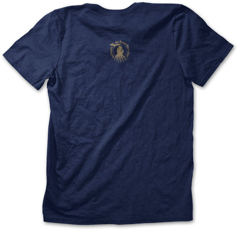 Unisex Michigan Roots Logo T-Shirt - Navy Blue
