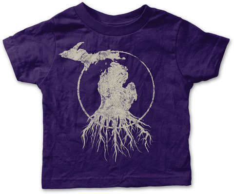 Youth Michigan Roots Logo Shirt - Purple