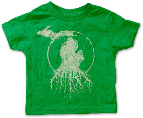 Youth Michigan Roots Logo Shirt - Kelly Green