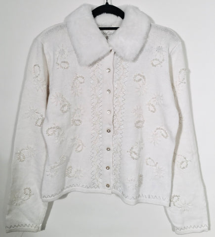 Paisley Bling Holiday Cardigan