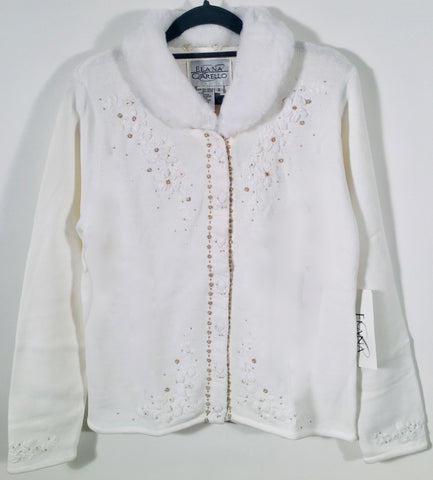 Velvet Roses Embroidered Cardigan