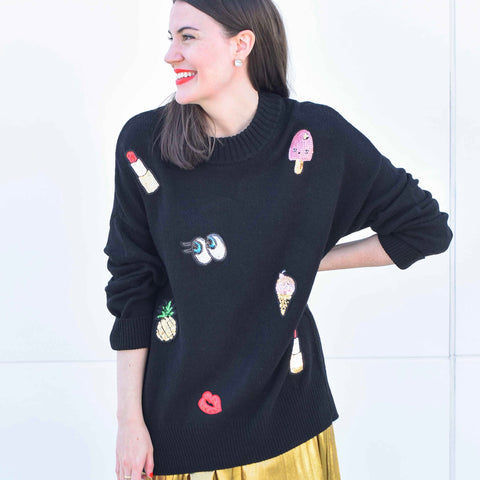 Sequined Emoji Tunic