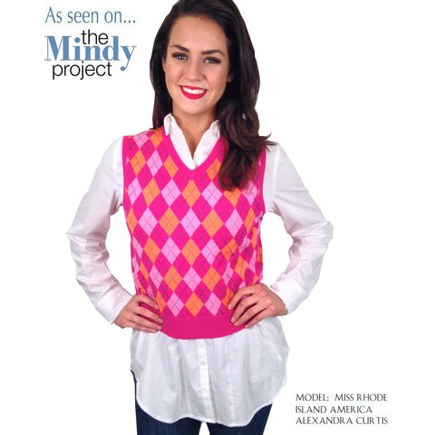 441995f7c774 The Mindy Project Baby Argyle Vest in Blue and Pink – Elana Carello ...