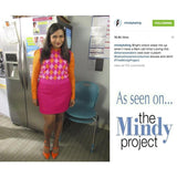 The Mindy Project Baby Argyle Vest in Blue and Pink