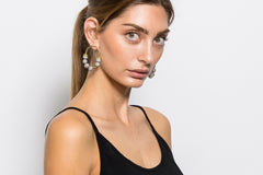 Zola's Earrings - Grey / Gold