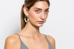 Zola's Earrings - Stone / Gold