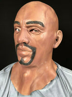 Realistic Black Man Male Latex Mask Goatee Beard Disguise Halloween Fancy Dress
