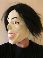 WACKO JACKO WEIRD MAN MICHAEL LATEX MASK OVERHEAD JACKSON THRILLER FANCY DRESS