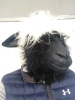 Woolly Sheep Head Mask Latex Full Head Farm Animal Shaun Masks Costume Accessory