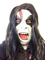 Abbath Style Mask Black Doom Metal Fancy Dress Black Wig Costume