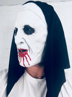 The Nun Mask Scary Sister The Conjuring Valak Halloween Habit Costume Bloody