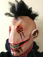 Smiley Killer Mask Full Head Teeth Mohawk Halloween Horror Movie Fancy Dress