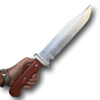 REALISTIC PU FOAM HUNTING KNIFE BLOODY HALLOWEEN HORROR WEAPON PROPS RAMBO