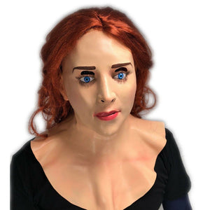 Redhead Ginger Female Doll Mask