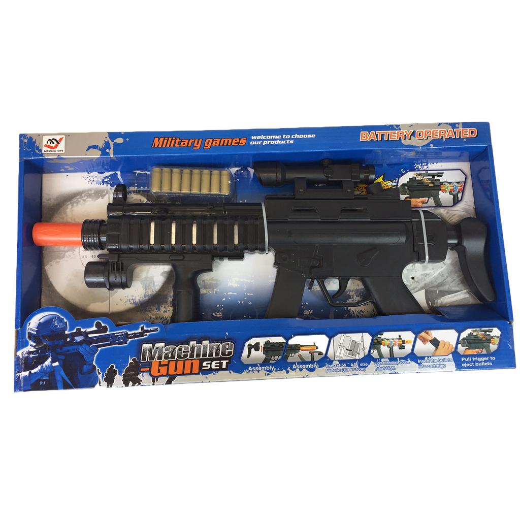 Assault Rifle with ejecting cases toy gun