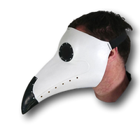 Plague Doctor Mask - White/Black