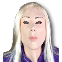 Blonde Lady Doll Mask