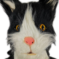 Furry Black & White Cat Mask
