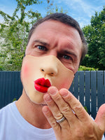 Funny Half Face Kiss Mask Big Lips Jagger Party Accessory