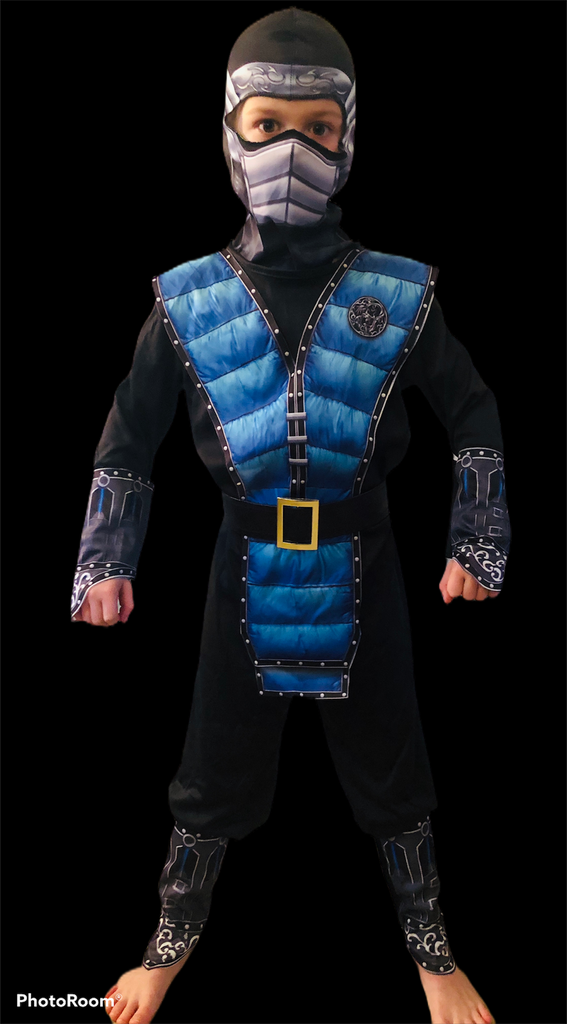 BOYS BLUE NINJA WARRIOR COSTUME