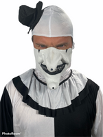 Scary Clown Costume Terrifying Black & White One Size (up to 6')