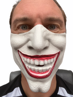 Half Face Joker Villain Mask  (Flesh or White Colour)