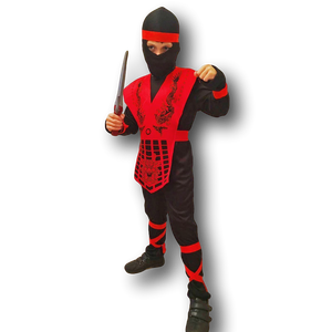 Shogun Ninja Costume Red & Black