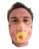 Baby Dummy Half Face Mask
