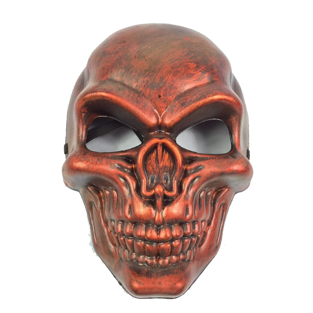 Kids Plastic Skull Mask Halloween Scary Fancy Dress Mask