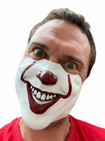 Scary Clown Mask Half Face Halloween Accessory