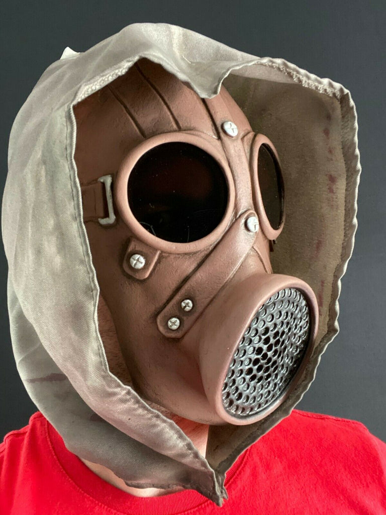 Gas Mask with Goggles & Hood Halloween Plague Doctor Purge Accessory