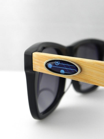 Blue Circuit Board Oval Design Sunglasses