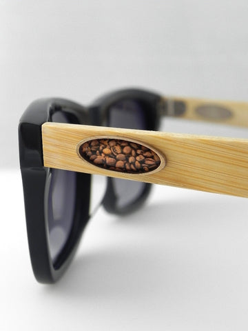 Coffee Beans Oval Design Sunglasses