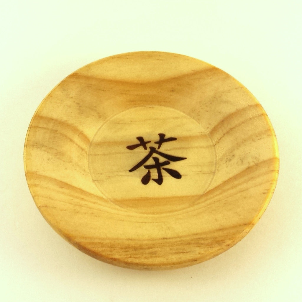 wooden saucer - cha