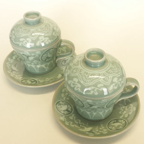 Essence of celadon cup set - Woonhak Maebyung