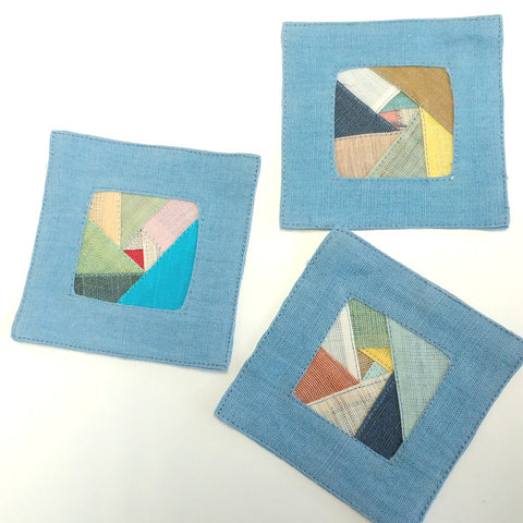 Hand-crafted cloth coaster