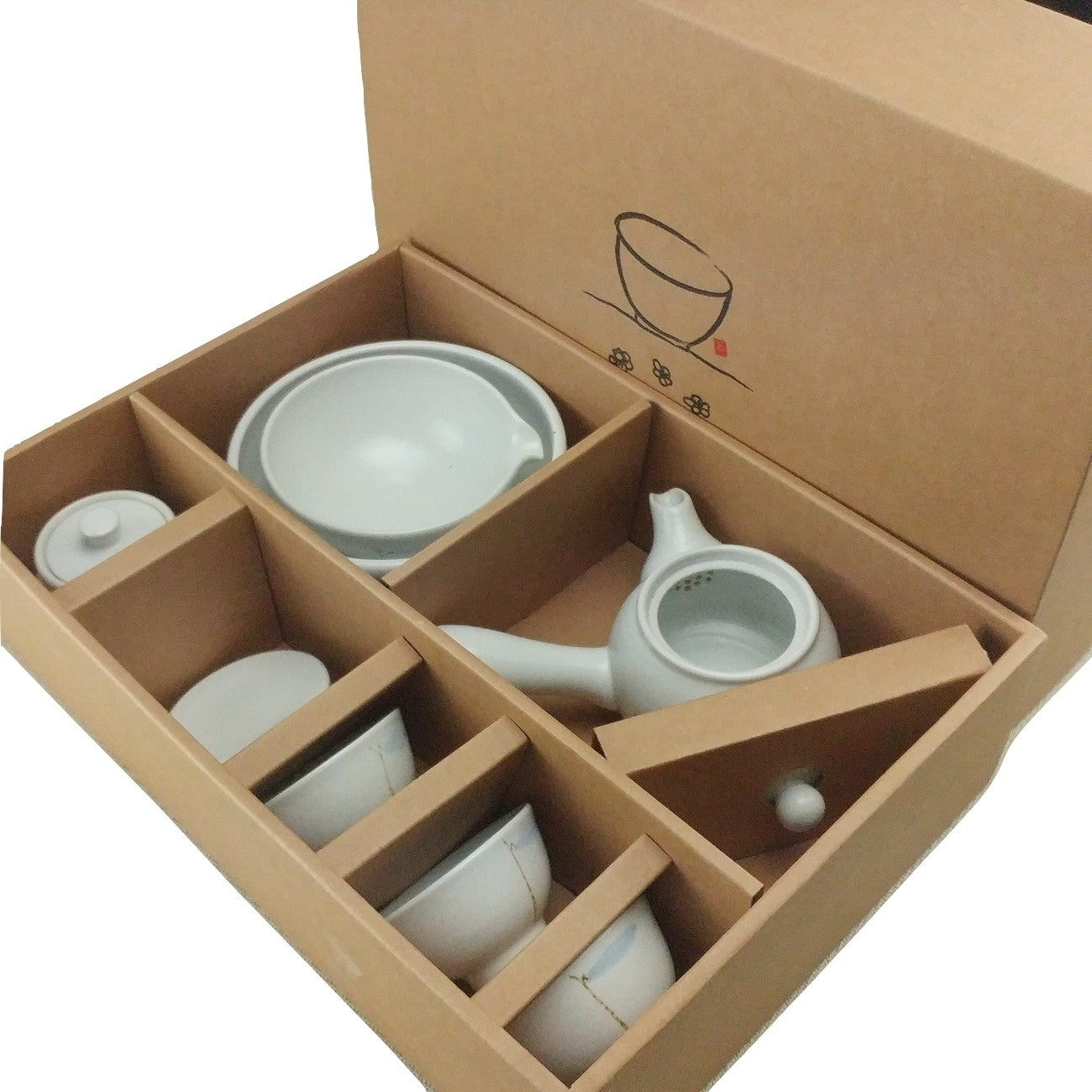 Korean tea set - Bamboo Leaf complete