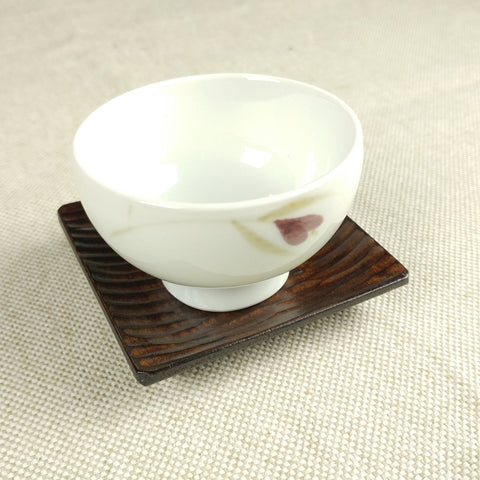 Korean wooden saucer - comb