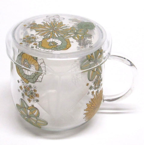 Japanese glass mug with infuser