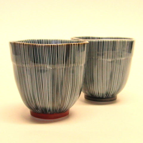 Arita porcelain teacup - blue stripe