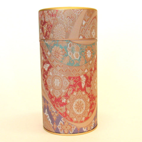 Japanese tea tin - Mizunishiki red
