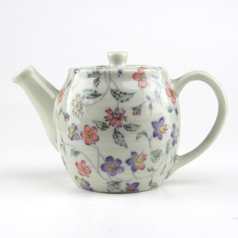 Japanese Mino porcelain teapot - Three Color Violet