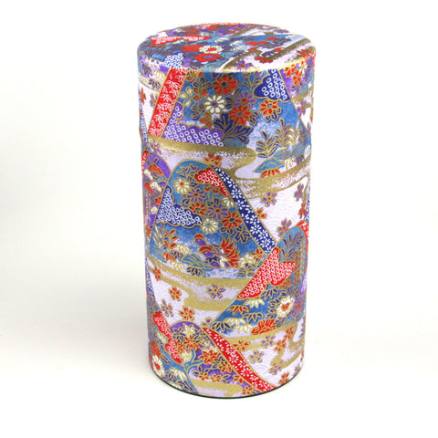 Japanese tea tin - Yuuzen
