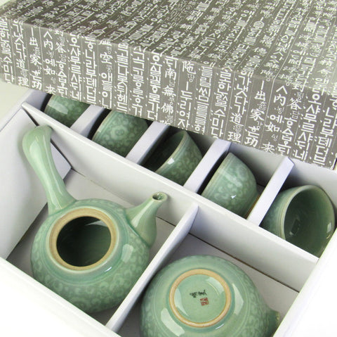 Korean teaset 5cups-Arabesque