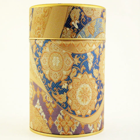 Japanese tea tin - Mizunishiki Blue
